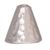 Cone Hammered Rhodium